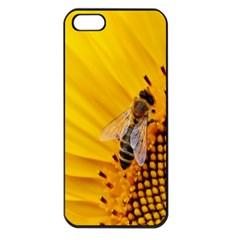 Sun Flower Bees Summer Garden Apple iPhone 5 Seamless Case (Black)