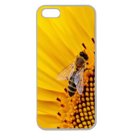 Sun Flower Bees Summer Garden Apple Seamless iPhone 5 Case (Clear)