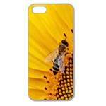 Sun Flower Bees Summer Garden Apple Seamless iPhone 5 Case (Clear) Front