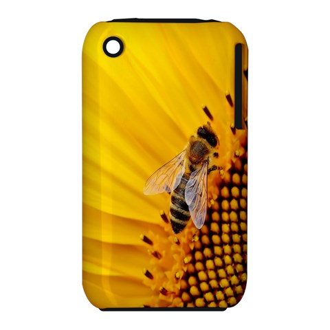 Sun Flower Bees Summer Garden Apple iPhone 3G/3GS Hardshell Case (PC+Silicone)