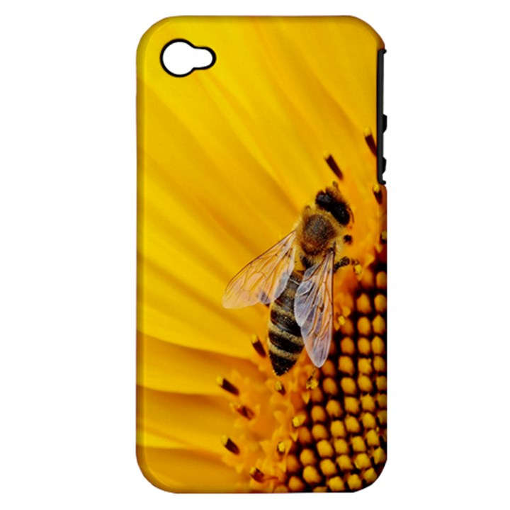 Sun Flower Bees Summer Garden Apple iPhone 4/4S Hardshell Case (PC+Silicone)