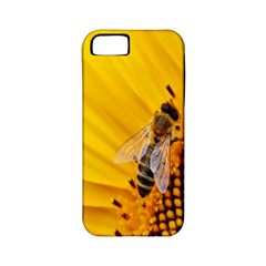 Sun Flower Bees Summer Garden Apple iPhone 5 Classic Hardshell Case (PC+Silicone)