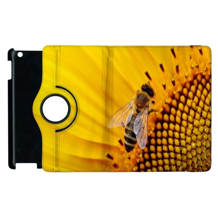 Sun Flower Bees Summer Garden Apple iPad 2 Flip 360 Case