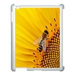 Sun Flower Bees Summer Garden Apple iPad 3/4 Case (White) Front