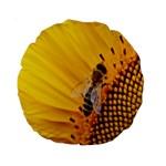 Sun Flower Bees Summer Garden Standard 15  Premium Round Cushions Back
