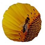 Sun Flower Bees Summer Garden Large 18  Premium Round Cushions Front