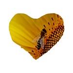 Sun Flower Bees Summer Garden Standard 16  Premium Heart Shape Cushions Back