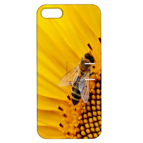 Sun Flower Bees Summer Garden Apple iPhone 5 Hardshell Case with Stand