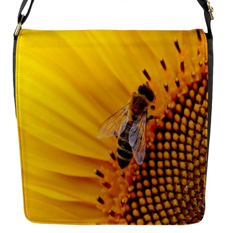 Sun Flower Bees Summer Garden Flap Messenger Bag (S)