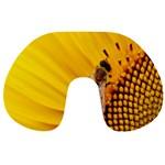 Sun Flower Bees Summer Garden Travel Neck Pillows Front