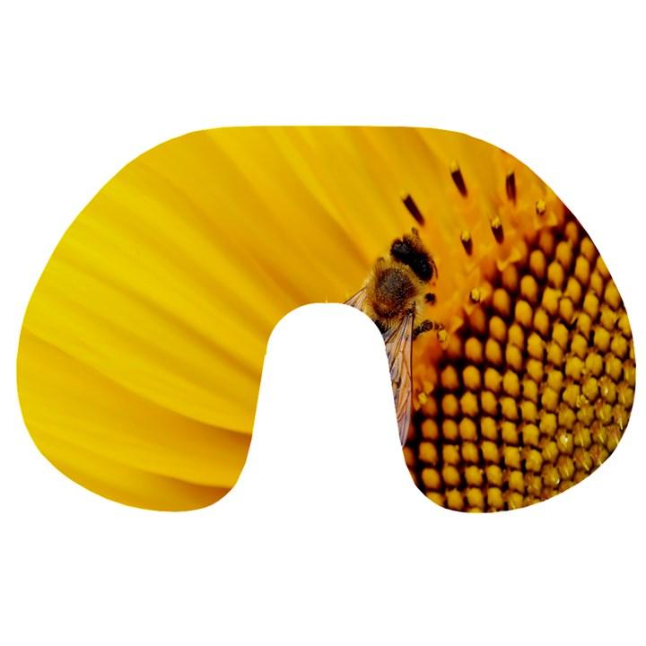 Sun Flower Bees Summer Garden Travel Neck Pillows