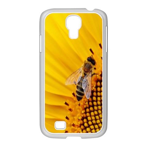 Sun Flower Bees Summer Garden Samsung GALAXY S4 I9500/ I9505 Case (White)