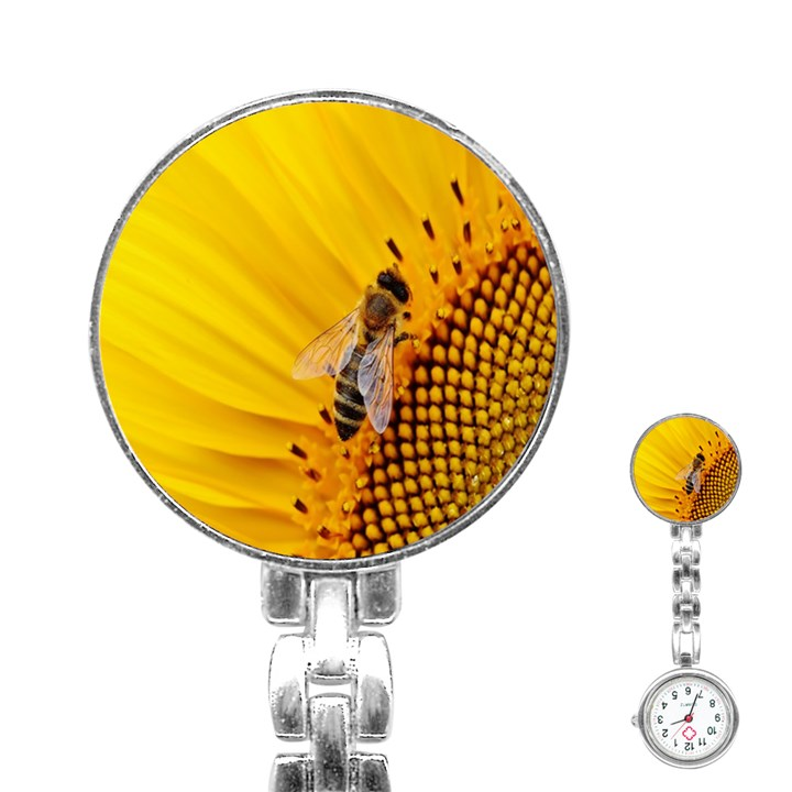 Sun Flower Bees Summer Garden Stainless Steel Nurses Watch