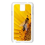 Sun Flower Bees Summer Garden Samsung Galaxy Note 3 N9005 Case (White) Front