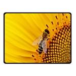 Sun Flower Bees Summer Garden Double Sided Fleece Blanket (Small)  50 x40 Blanket Back
