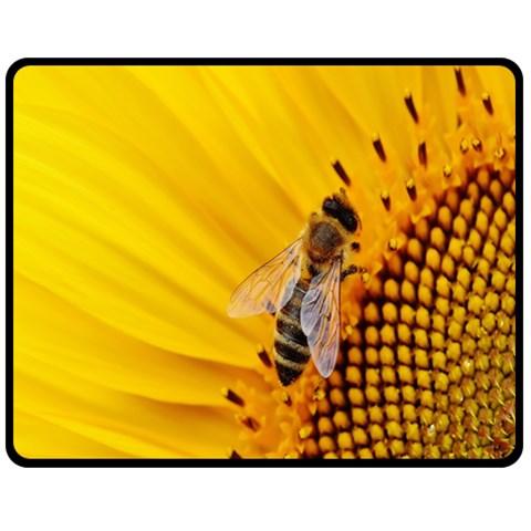 Sun Flower Bees Summer Garden Double Sided Fleece Blanket (Medium)