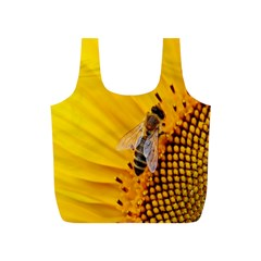 Sun Flower Bees Summer Garden Full Print Recycle Bags (S)