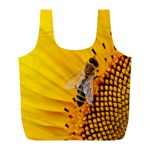 Sun Flower Bees Summer Garden Full Print Recycle Bags (L)  Front