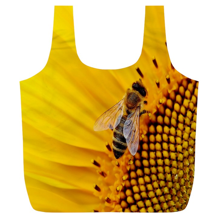 Sun Flower Bees Summer Garden Full Print Recycle Bags (L)