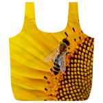 Sun Flower Bees Summer Garden Full Print Recycle Bags (L)  Back