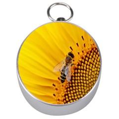 Sun Flower Bees Summer Garden Silver Compasses