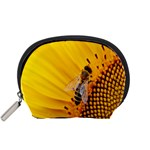 Sun Flower Bees Summer Garden Accessory Pouches (Small)  Front