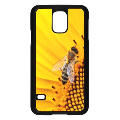 Sun Flower Bees Summer Garden Samsung Galaxy S5 Case (Black)