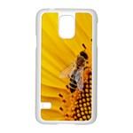 Sun Flower Bees Summer Garden Samsung Galaxy S5 Case (White) Front