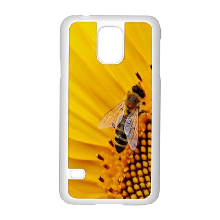 Sun Flower Bees Summer Garden Samsung Galaxy S5 Case (White)