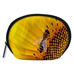 Sun Flower Bees Summer Garden Accessory Pouches (Medium)