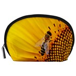 Sun Flower Bees Summer Garden Accessory Pouches (Large)  Front