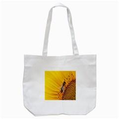 Sun Flower Bees Summer Garden Tote Bag (White)