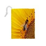 Sun Flower Bees Summer Garden Drawstring Pouches (Medium)  Back