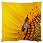 Sun Flower Bees Summer Garden Large Flano Cushion Case (Two Sides) Front