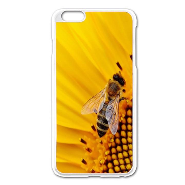 Sun Flower Bees Summer Garden Apple iPhone 6 Plus/6S Plus Enamel White Case