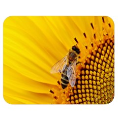 Sun Flower Bees Summer Garden Double Sided Flano Blanket (Medium)