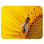 Sun Flower Bees Summer Garden Double Sided Flano Blanket (Medium)  60 x50 Blanket Front