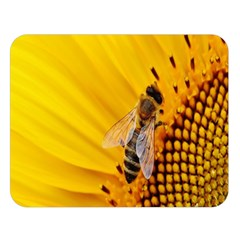 Sun Flower Bees Summer Garden Double Sided Flano Blanket (Large)