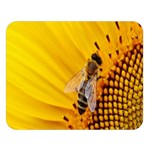 Sun Flower Bees Summer Garden Double Sided Flano Blanket (Large)  80 x60 Blanket Front