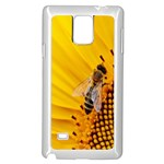 Sun Flower Bees Summer Garden Samsung Galaxy Note 4 Case (White) Front