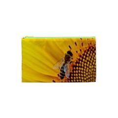 Sun Flower Bees Summer Garden Cosmetic Bag (XS)
