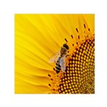 Sun Flower Bees Summer Garden Small Satin Scarf (Square) Front