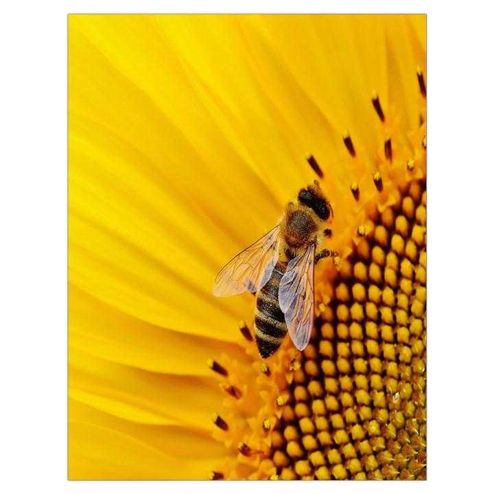 Sun Flower Bees Summer Garden Drawstring Bag (Large)