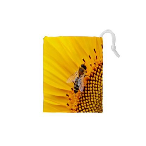 Sun Flower Bees Summer Garden Drawstring Pouches (XS)