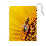 Sun Flower Bees Summer Garden Drawstring Pouches (Extra Large) Front