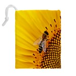 Sun Flower Bees Summer Garden Drawstring Pouches (Extra Large) Back