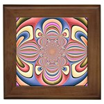 Pastel Shades Ornamental Flower Framed Tiles Front