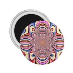 Pastel Shades Ornamental Flower 2 25  Magnets