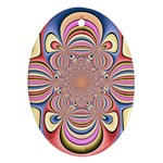 Pastel Shades Ornamental Flower Ornament (Oval)  Front