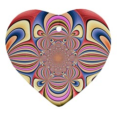 Pastel Shades Ornamental Flower Ornament (Heart)